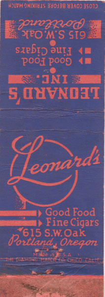 Leonard's Matchbook